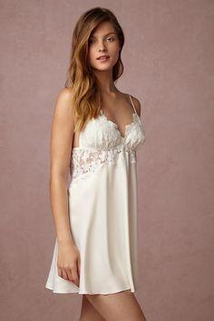 $88 Ivory Farrah Chemise   BHLDN Lingerie nightgown wedding sexy Nightwear Underwear sleepwear Bridal Boudoir