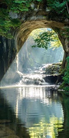 Noumizo Waterfall (濃溝の滝) or Kameiwa Cave (亀岩の洞窟) is located in Kimitsu city in Chiba prefecture of Japan Beautiful World, Beautiful Places, Beautiful Pictures, Beautiful Nature Photos, Wonderful Places, Beautiful Scenery, Amazing Things, Nature Pictures, Nature Images