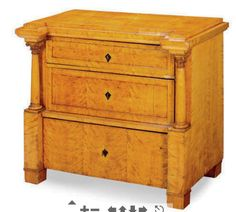A BIEDERMEIER BIRCH CHEST OF DRAWERS, SECOND QUARTER 19TH CENTURY