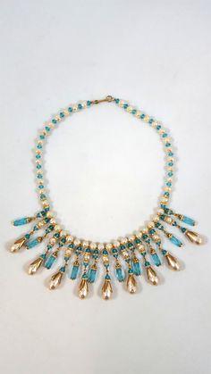 Vintage MIRIAM HASKELL collar cristal babero por GalleryThreeSixty