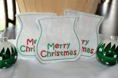 Merry Christmas Small Bags by TowelsbyMouse on Etsy