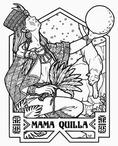 Mama Quilla - Peruvian Goddess of the Moon © 2010 Renée Christine Yates-McElwee