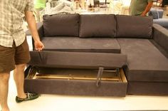"""MANSTAD Sectional Sofa Bed with Storage from IKEA.  (The """"sleeper"""" part looks to have a unique mechanism - ??)"""