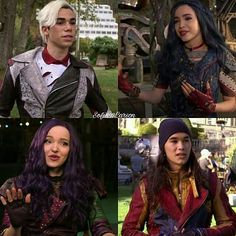 Dove Cameron as Mal Sofia Carson as Evie Booboo Stewart as Jay Cameron Boyce as Carlos