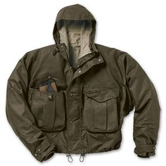 Wading Jacket: for wearing over hip or chest waders