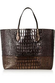 Rochas Metallic crocodile-effect leather tote | NET-A-PORTER