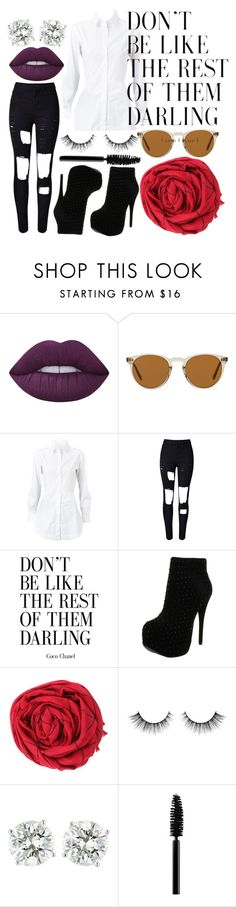 """Untitled #1118"" by tiffy54 ❤ liked on Polyvore featuring Lime Crime, Oliver Peoples, Alaïa, WithChic, Luichiny and MAC Cosmetics"