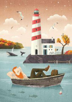 Lighthouse Art Print by Adrian Macho