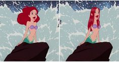 Como seriam as princesas da Disney se o cabelo delas fosse real