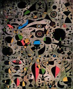 Mujeres cercadas por el vuelo de un pájaro by Joan Miró