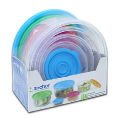Anchor 10 Piece Storage Set with Lids *** Visit the affiliate link Amazon.com on image for more details.