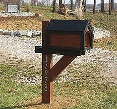 constructing a cool mailbox from a pallet for under 13, pallet projects, Our New Mailbox built from a pallet and a few pieces of scrap lumber