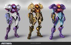 "tchukart: ""Samus Redesigns More: Sketches / Fan Art / Creature Design "" Samus Aran, Metroid Samus, Metroid Prime, Character Concept, Character Art, Character Design, Super Metroid, Robot Concept Art, Fantasy Armor"