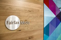 Evoke Projects has designed the new offices of media company Fairfax Media Limited, located in Newcastle, Australia. Evoke Projects created the workplace Corporate Office Design, Corporate Interiors, Timber Feature Wall, Project Mc, Timber Walls, Man Office, Entry Wall, Fairfax Media, Office Signs