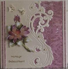 GREET'S KAARTENSITE: GEFELICITEERD KAARTEN!!!! 3d Cards, Paper Cards, Marianne Design Cards, Embossed Cards, Pretty Cards, Flower Cards, Creative Cards, Anniversary Cards, Greeting Cards Handmade