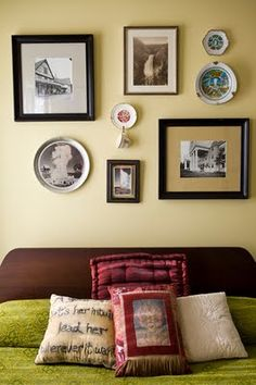 Inspire Bohemia: Beautiful Wall Decor and Art: Plates: Part II; themed, one of our favorite places on earth