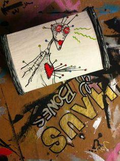 "Hand-painted Tim Burton ""Voodoo Girl"" Keepsake Box. $40.00, via Etsy."