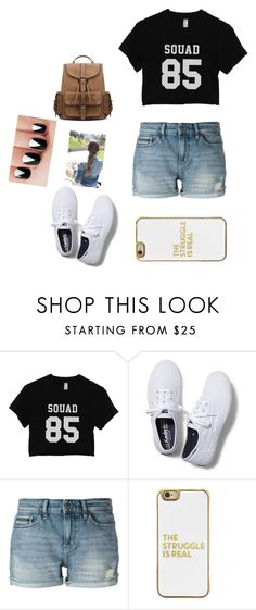 """Squad goals♡"" by ilianasofia ❤ liked on Polyvore featuring Keds, Calvin Klein Jeans and BaubleBar"