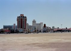 Las Vegas Strip in 1984, seen from an empty lot now occupied by Treasure Island. Photo by K. Golish