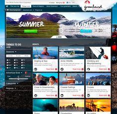 Greenland.com by Casper Schelde Iversen, via Behance