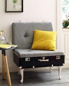 loungechair - Sessel aus altem Reisekoffer