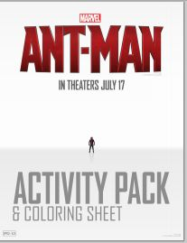 Ant-Man Activity Sheets and Coloring Pages - free printables for family fun with Marvel's Ant-Man movie