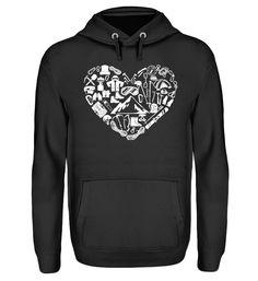 Berge Herz T-Shirt Unisex, Hoodies, Sweatshirts, Sweaters, Fashion, Mountains, Cast On Knitting, Moda, Sweater