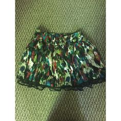 multicolored skirt multicolored skirt, can be used as a high waisted skirt. flowy skirt.  (open to lowering the price if interested, NO trades) Skirts