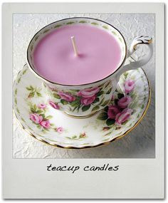 DIY Tea cup candle