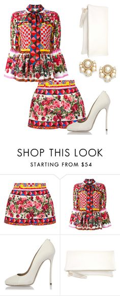"""Dolce and Gabbana 💋"" by styledbyaisya ❤ liked on Polyvore featuring Dolce&Gabbana, Dsquared2, JNB and Kate Spade"