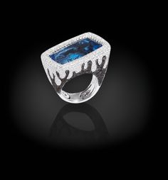 Palmiero, Captured stones collection, Trapped stones line ring