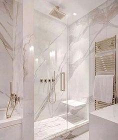 Modern Master Bathroom, Small Bathroom, Bathroom Mirrors, Bathroom Marble, Bathroom Cabinets, Bathroom Grey, Minimalist Bathroom, Master Bathrooms, Master Baths