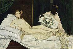 Olympia Édouard Manet, 1863 Óleo sobre lienzo • Impresionismo 190 cm × 130,5 cm Museo de Orsay, París,Francia