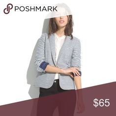 Madewell Tailored Blazer - Stripe Excellent condition, like new. Originally $138 & sold out. Madewell Jackets & Coats