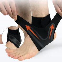 Right Left Foot Ankle Protector Sports Ankle Support Elastic Ankle Brace Guard Foot Support Sports Gear Black Fracture De Stress, Taekwondo, Weak Ankles, Ankle Joint, Sprained Ankle, Neoprene, Compression Sleeves, High Intensity Workout, Muscle Fatigue