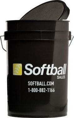 Softball Sales Empty Black Ball Bucket by Champro. $14.99. Softball Sales Empty Black Ball Bucket With Padded Lid Softball Sales Ball bucket. Keep your practice balls away from moisture damage in this 6-gallon bucket. It's easy to carry, holds approximately 3-dozen softballs and comes with a padded lid for comfort. Bucket only. Balls not included. Color: Black.
