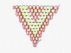 Schema des boucles d oreille tissage de perles brick stitch par Mes dernieres lubies