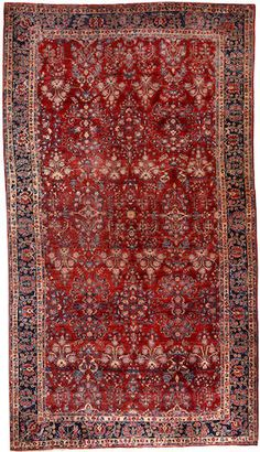 Sarouk carpet  Central Persia  circa 1920  size approximately 11ft. 10in. x 21ft. 1in.