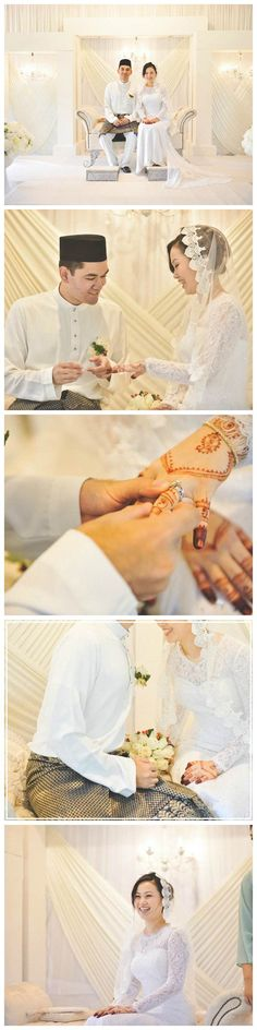 Elegant malay wedding of Arif and Aili  // http://blog.onethreeonefour.com/elegant-white-malay-wedding/ // #malaywedding