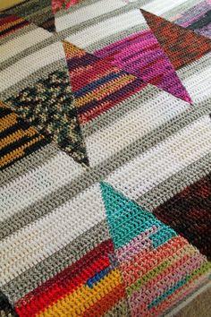 crochet quilt pattern - Amazing One-Stitch afghan pdf file - stashbuster crochet pattern - crochet blanket pattern Crochet Placemat Patterns, Crochet Quilt Pattern, Afghan Crochet Patterns, Crochet Patterns For Beginners, Quilt Patterns, Crochet Afghans, Crochet Ideas, Crochet Projects, Knitting Tutorials