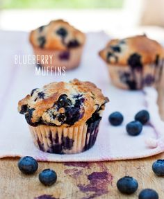 Gwyneth's Mom's Blueberry Muffins plus other blueberry recipes - my favorite!