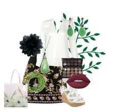 """Green Leaves"" by vintagegirl1940 ❤ liked on Polyvore featuring Betsey Johnson, Bling Jewelry, Lime Crime and Ted Baker"