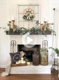 96 Beautiful Farmhouse Fireplace Mantel Decorations That Will Make – Farmhouse Room mantle decor farmhouse Farmhouse Fireplace Mantels, Fireplace Mantle, Living Room With Fireplace, Farmhouse Decor, Farmhouse Style, Modern Farmhouse, Farmhouse Design, Fireplace Ideas, Fireplace Makeovers