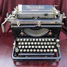 "Vintage 1934 German Mercedes ""FAVORIT"" Type Writer, Mercedes"