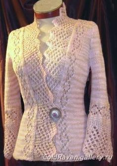 Colette knitting pattern from White Lies Designs. Another beauty. Knitting patterns, crochet patterns, yarn shop directory, free patterns and expert knitting and crochet advice from Los Angeles. Crochet Jacket, Knit Crochet, Knit Jacket, Tricot D'art, Colette Patterns, Cardigan Pattern, Lace Cardigan, Top Pattern, Free Pattern