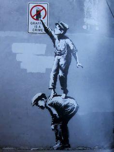 October 1: Chinatown #Banksy New York 2013 street art stencil art