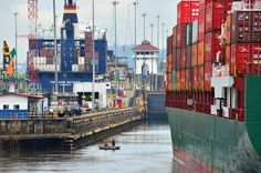 Between 30 to 40 vessels, ranging from sailboats to gigantic container ships, transit the Panama Canal daily.