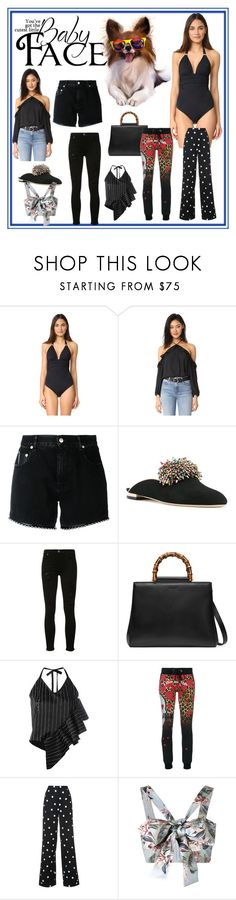 """Cutest Item Sets"" by mkrish ❤ liked on Polyvore featuring ViX, BB Dakota, Alyx, Elie Saab, 7 For All Mankind, Gucci, Ssheena, Philipp Plein, Monse and Zimmermann"