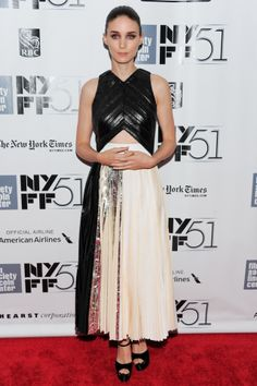 Rooney Mara wore a Proenza Schouler spring/summer 2014 dress to the premiere of Her at the New York Film Festival.