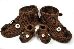 Crochet dog slippers / boots